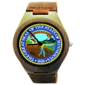 Handmade Wooden Watch Made with Natural Bamboo with State of Minnesota Seal