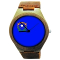 Kahala Wooden Watch Made with Natural Bamboo with State of Nevada Flag