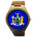 Kahala Wooden Watch Made with Natural Bamboo with State of New York Flag