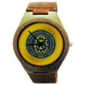 Handmade Wooden Watch Made with Natural Bamboo with State of Rhode Island and Providence Plantations Seal