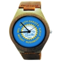 Handmade Wooden Watch Made with Natural Bamboo Wood with State of South Dakota Flag