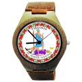 Kahala Wood Watch Made with Natural Bamboo with State of Virginia Seal