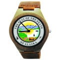 Kahala Wooden Watch Made with Natural Bamboo with State of Alaska Seal