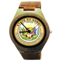 Wood Watch Made with Natural Bamboo Wood with State of Hawaii Seal