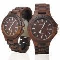 Handmade Wooden Watch Made with Red Sandalwood - Kahala # 9