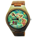 Kahala Wooden Watch Made With Natural Bamboo with Hawaiian Artwork