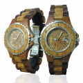 Handmade Wooden Watch Made with Hawaiian Koa and Mango Wood - Kahala Brand # 12-A