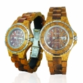 Handmade Wooden Watch Made with Acacia Koa Wood and Mango Wood - Kahala Brand # 12-B