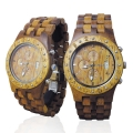 Handmade Wooden Watch Made with Hawaiian Koa Wood and Hawaiian Mango Wood - Kahala Brand # 11-A