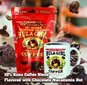 Hula Girl 10% Kona Coffee Blend Chocolate Macadamia Nut 5oz