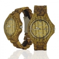 Handmade Wooden Watch Made with Zebra Wood - Kahala55